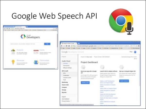 Иллюстрация Google Speech API