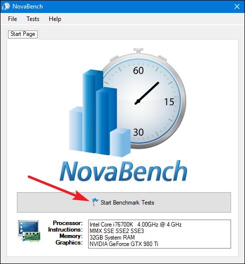 Сервис NovaBench
