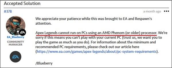 Не поддерживаются AMD Phenom