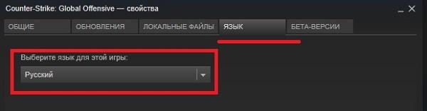 Опция выбора языка