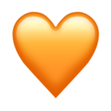 Оранжевое сердце ВК