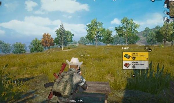 Открытая местность в игре