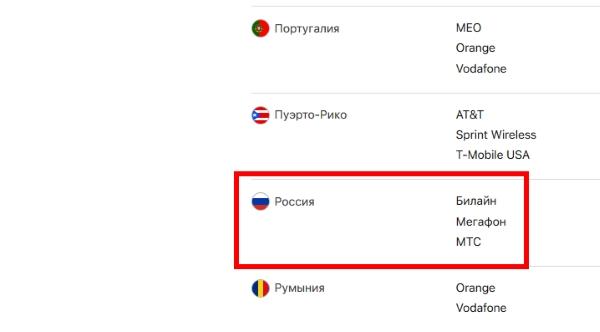 Российские операторы с LTE