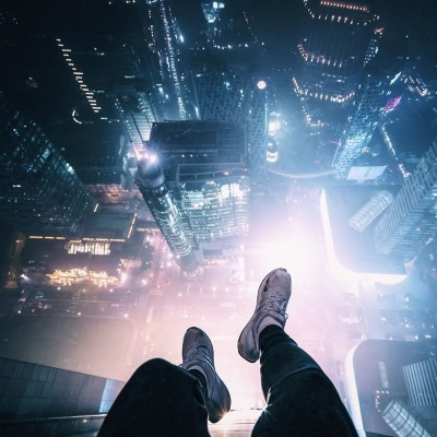 Мегаполис внизу