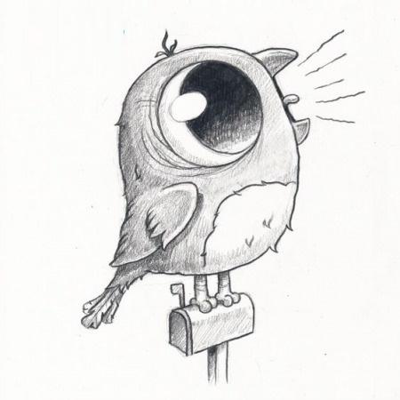 Кричащая птица рисунок