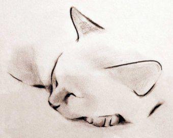 Голова кошки рисунок