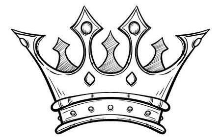 Корона рисунок