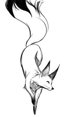 Лисица рисунок