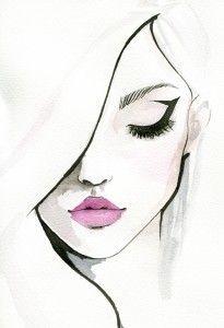 Лицо женщины рисунок