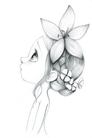 Лицо девочки сбоку