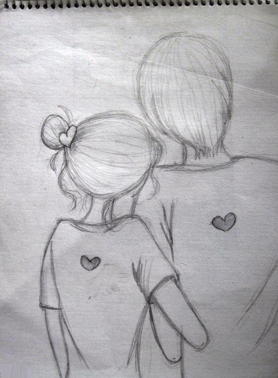 девушка и парень рисунок