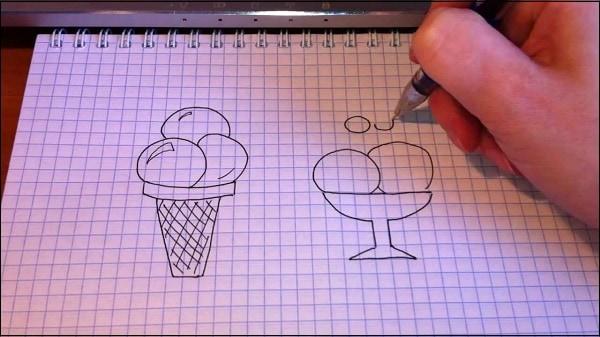 risunki-po-kletkam Рисунки карандашом для срисовки очень легкие и красивые