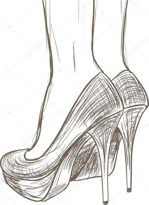 Туфли рисунок