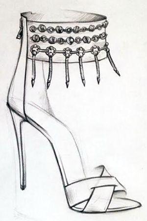 Туфля рисунок