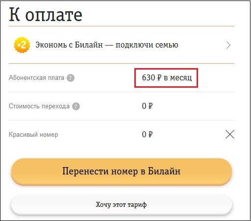 Двойной Анлим Билайн