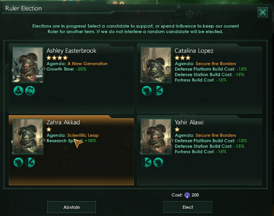 Выборы Stellaris