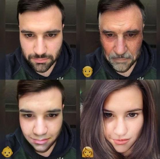 Пример работы фильтров Faceapp