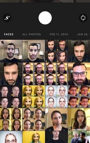 Свайп Faceapp