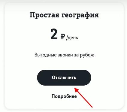 Кнопка отключения подписки