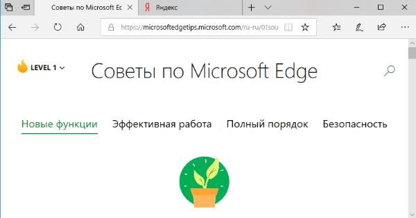 Браузер Microsoft Edge