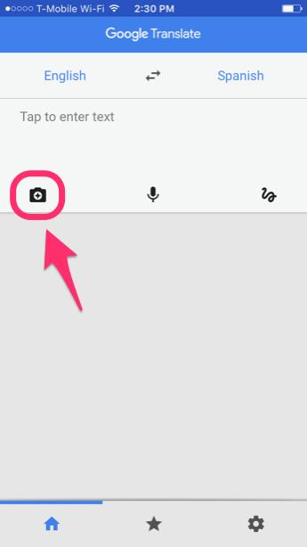 Значок камеры Гугл Переводчик