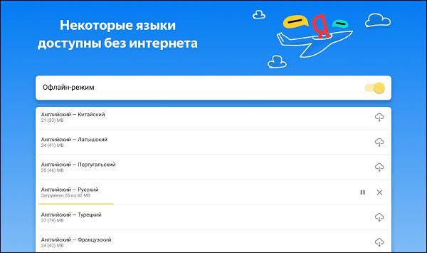 Некоторые базы доступны без Интернета Яндекс