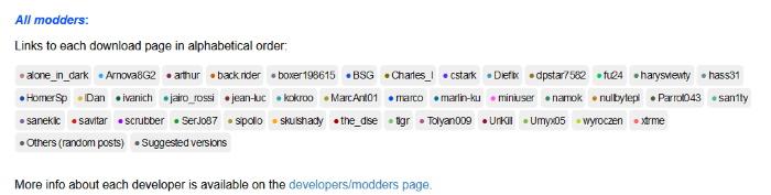 Список независимых разработчиков