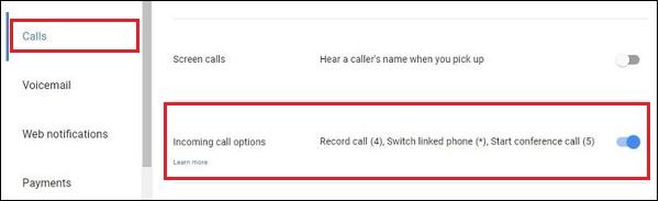 Опция записи звонков
