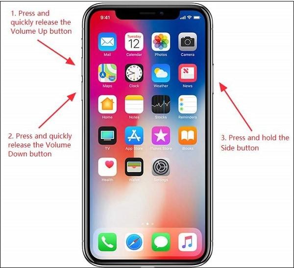 Сброс на айфоне