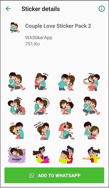 Романтический стикер-пак имеет множество стикеров с надписями