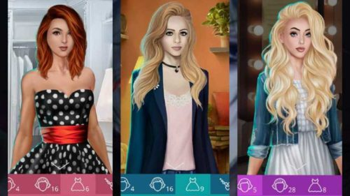 Можно выбирать внешность и наряды главной героини