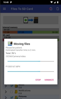 File to SD Card