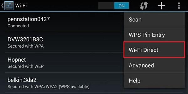 Wi FI Direct на телефоне