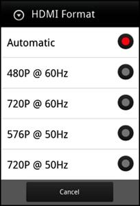 Формат видеосигнала HDMI