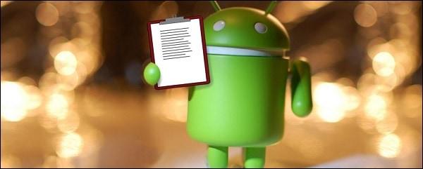 Андроид с листком