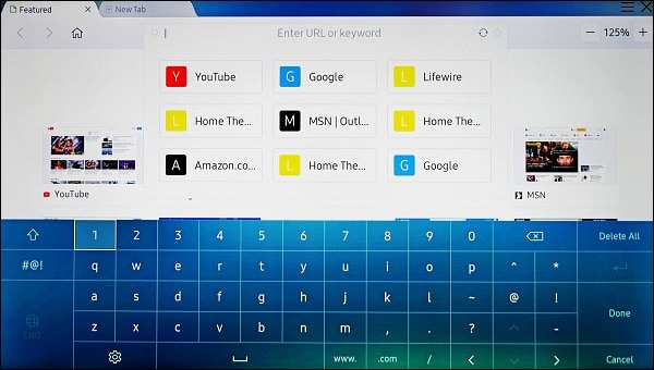 Виртуальная клавиатура Самсунг Смарт ТВ