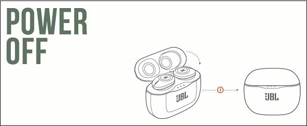 Выключение наушников JBL