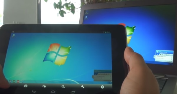 Управление компьютером через планшет