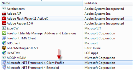 Microsoft .NET Framework компонент