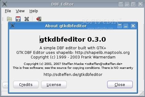 GTKDBF Editor