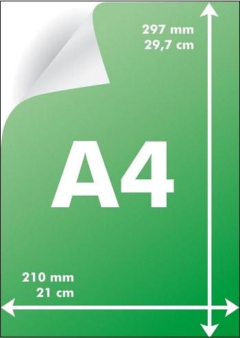 Размеры А4