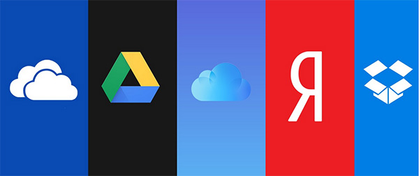Логотипы облачных сервисов