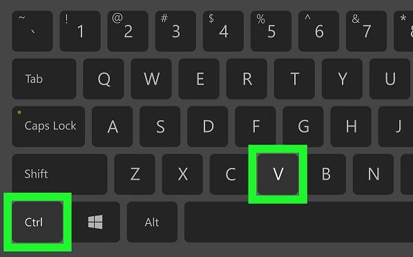 Клавиши Ctrl+V