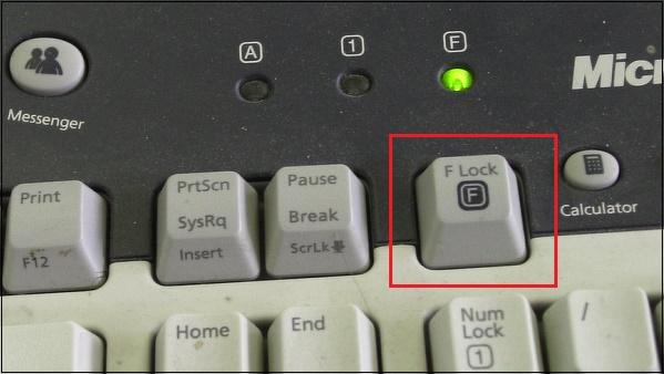 Клавиша F Lock