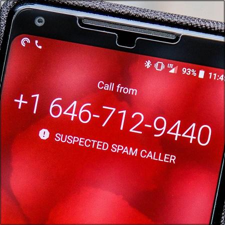 Подозревается звонок спамера