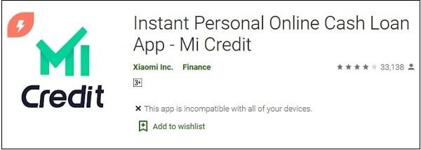 Mi Credit в Плей Маркет