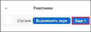 """Опция """"Ещё"""" в Зум"""