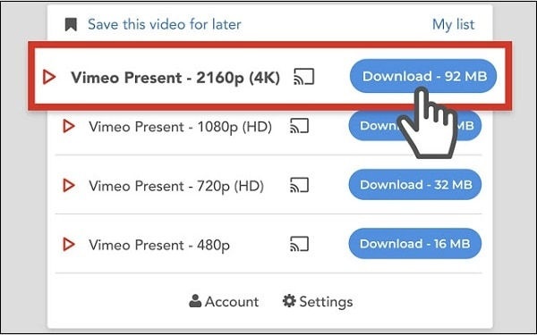 Форматы Video Download Professional