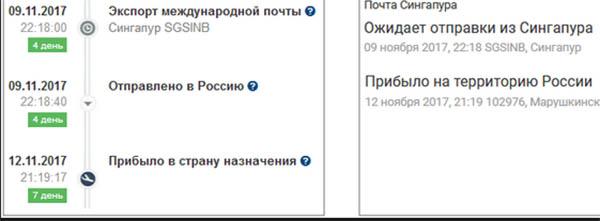Отправлено в Россию