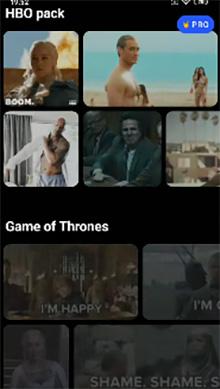 Выберите клип